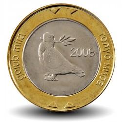 BOSNIE - PIECE de 2 Mark convertible - Colombe de la paix - Bimétal - 2008