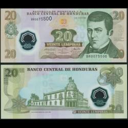 HONDURAS - Billet de 20 Lempiras - Polymer - 31.07.2008