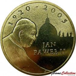 POLOGNE - PIECE de 2 ZLOTE - Jean-Paul II - 2005
