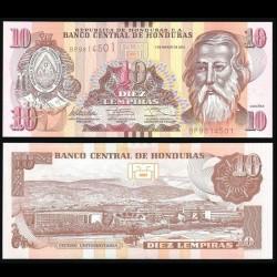 HONDURAS - Billet de 10 Lempiras - 01.03.2012