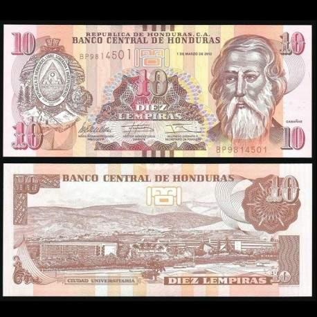 HONDURAS - Billet de 10 Lempiras - 01.03.2012 P99a