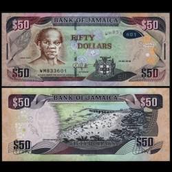 JAMAIQUE - Billet de 50 DOLLARS - Samuel Sharpe - 2018 P94d