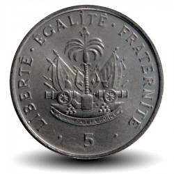 HAITI - PIECE de 5 Centimes - Charlemagne Peralte - 1997 Km#154