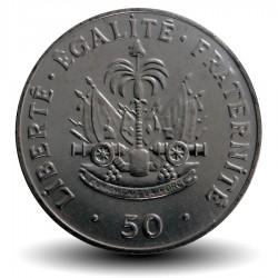 HAITI - PIECE de 50 Centimes - Charlemagne Peralte - 2011 Km#153a