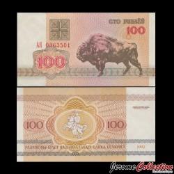BIÉLORUSSIE - Billet de 100 Roubles - 1992 P8a