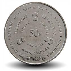BURUNDI - PIECE de 50 Francs - Joueur de tambour - 2011