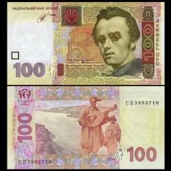 UKRAINE - Billet de 100 Hriven - Taras Grigoryevich Shevchenko - 2014 P122c