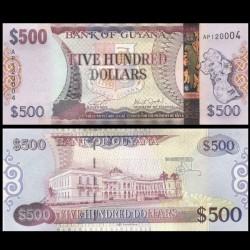 GUYANA - Billet de 500 DOLLARS - 2019