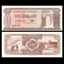 GUYANA - Billet de 10 DOLLARS - Chutes de Kaieteur - 1992