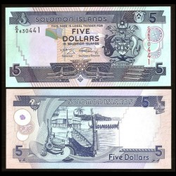 SALOMON (ILES) - Billet de 5 DOLLARS - 2008 P26a2