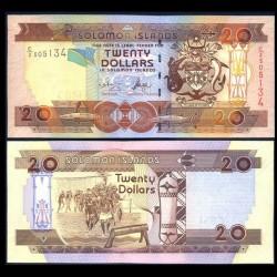 SALOMON (ILES) - Billet de 20 DOLLARS - Guerriers - 2004 P28a1