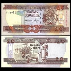 SALOMON (ILES) - Billet de 20 DOLLARS - Guerriers - 2011 P28a2