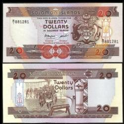 SALOMON (ILES) - Billet de 20 DOLLARS - Guerriers - 1986 P16a
