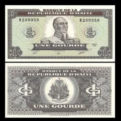 HAITI - Billet de 1 Gourde - François-Dominique Toussaint Louverture - 1989 P253a