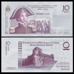 HAITI - Billet de 10 Gourdes - Sanité Belair - 2014
