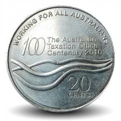 AUSTRALIE - PIECE de 20 Cents - Bureau australien de taxation - 2010