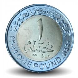 EGYPTE - PIECE de 1 Pound - Le nouveau barrage d'Assiout - Bimétal - 2019