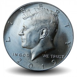 ETATS-UNIS / USA - PIECE de 50 Cents - John F. Kennedy - 2019