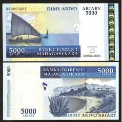 MADAGASCAR - Billet de 5000 Ariary - 2008