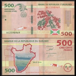 BURUNDI - Billet de 500 Francs - Crocodile - 04.07.2018