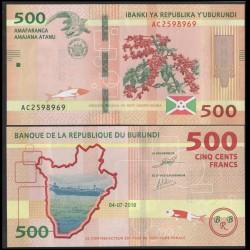 BURUNDI - Billet de 500 Francs - Crocodile - 04.07.2018