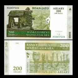 MADAGASCAR - Billet de 200 Ariary / 1000 Francs - 2004 / 2008