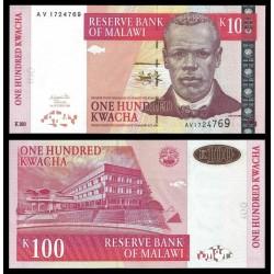 MALAWI - Billet de 100 Kwacha - Révérend John Chilembwe - 01.10.2003