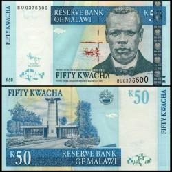 MALAWI - Billet de 50 Kwacha - Révérend John Chilembwe - 30.06.2011