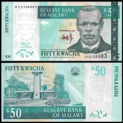 MALAWI - Billet de 50 Kwacha - Révérend John Chilembwe - 31.10.2006