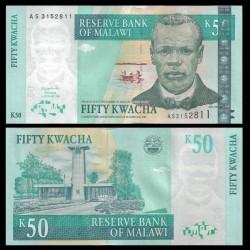 MALAWI - Billet de 50 Kwacha - Révérend John Chilembwe - 01.01.2003