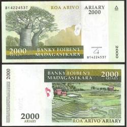 MADAGASCAR - Billet de 2000 Ariary - 2014