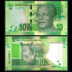 AFRIQUE DU SUD - Billet de 10 Rand - Rhinoceros - 2015