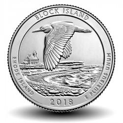 ETATS-UNIS / USA - PIECE de 25 Cents - America the Beautiful - Block Island - 2018