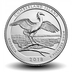 ETATS-UNIS / USA - PIECE de 25 Cents - America the Beautiful - Cumberland Island National Seashore - 2018