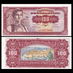 YOUGOSLAVIE - Billet de 100 Dinara - Port de Dubrovnik - 01.05.1963 P73a
