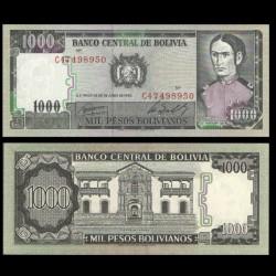 BOLIVIE - Billet de 1000 Pesos Bolivianos -Juana Azurduy de Padilla - 25.06.1982