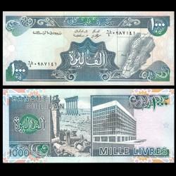 LIBAN - Billet de 1000 Livres - Carte du Liban - 1991