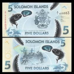SALOMON (ILES) - Billet de 5 DOLLARS - POLYMER - Pêche au thon - 2019