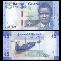 GHANA - Billet de 5 Cedis - Navire Kwame Nkrumah - 2017