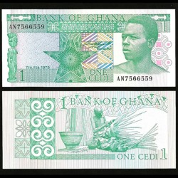 GHANA - Billet de 1 Cedi - Tisserand de panier - 1979