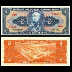 BRESIL - Billet de 2 Cruzeiros - Duque de Caxias - 1958 P151b