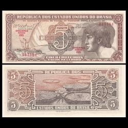 BRESIL - Billet de 5 Cruzeiros - Indien - 1962