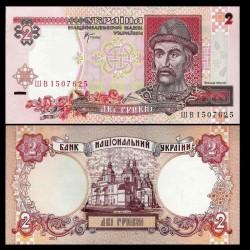 UKRAINE - Billet de 2 Hrivni - Prince Yaroslav - 2001