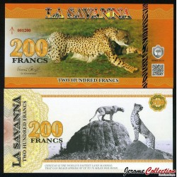 LA SAVANNA - Billet de 200 Francs - 2015