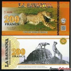 LA SAVANNA - Billet de 200 Francs - 2015