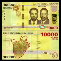 BURUNDI - Billet de 10000 Francs -04.07.2018 P54b