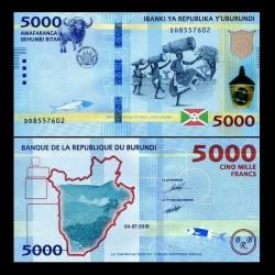 BURUNDI - Billet de 5000 Francs - 04.07.2018 P53b