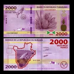 BURUNDI - Billet de 2000 Francs - 04.07.2018