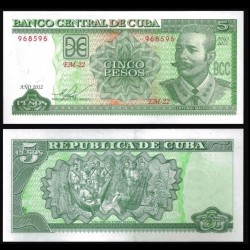 CUBA - Billet de 5 Pesos - Antonio Maceo - 2012