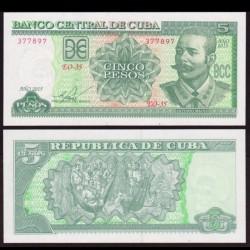 CUBA - Billet de 5 Pesos - Antonio Maceo - 2015 P116o
